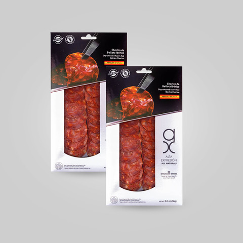 2 Packs of Sliced Chorizo Ibérico